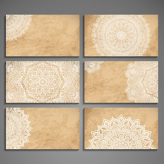 Elegant mandala card collection