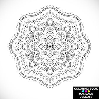 Elegant mandala for coloring book