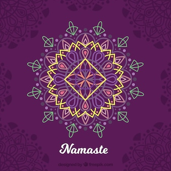 Elegant mandala namaste background