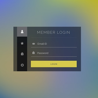 Elegant member login form