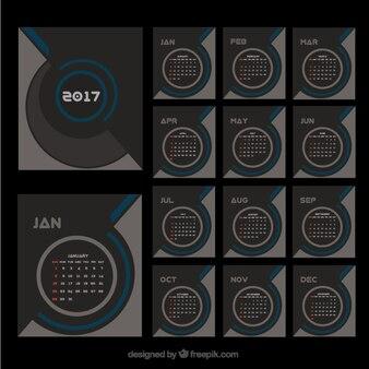 Elegant modern 2017 calendar