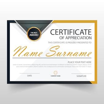 Elegant modern horizontal certificate of appreciation