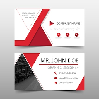 Elegant modern red commercial business card