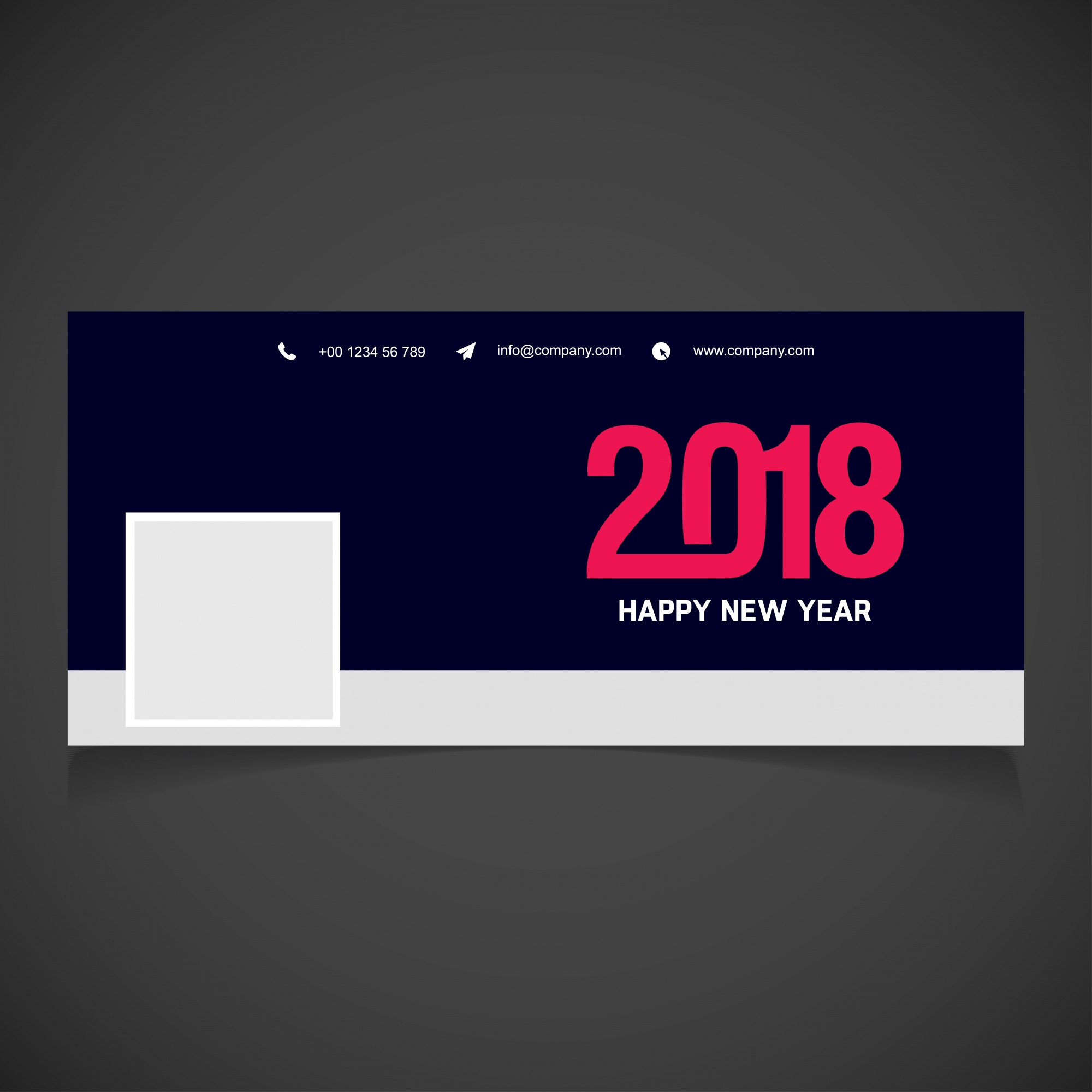 Elegant new year 2018 facebook cover