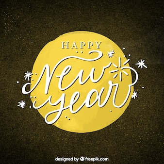 Elegant new year background with circle