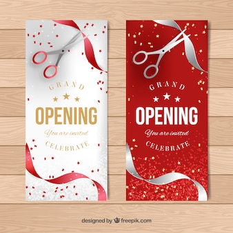 Elegant opening banners