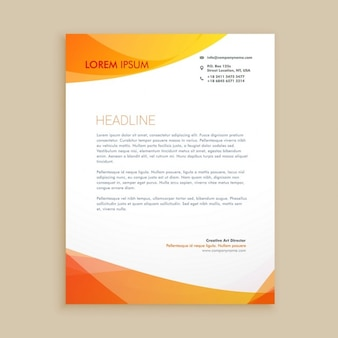 Elegant orange letterhead