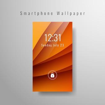 Elegant orange smartphone wallpaper