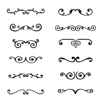 Elegant ornamental elements