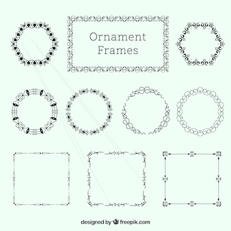 Elegant ornamental frames pack