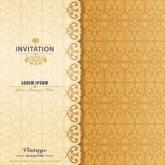 エレガントな装飾用の招待状