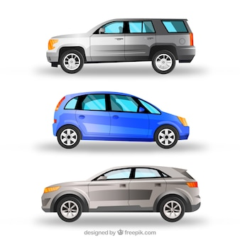 Elegant pack of realistic cars