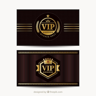 Elegant pack with vip cards