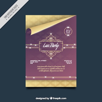 Elegant party brochure template