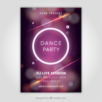 Elegant party poster with circle