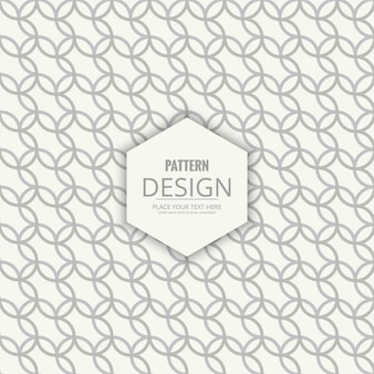 Elegant pattern of geometric shapes