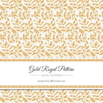 Elegant pattern of golden leaves