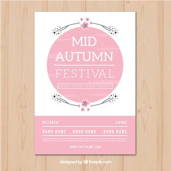 Elegant poster for mid autumn festival