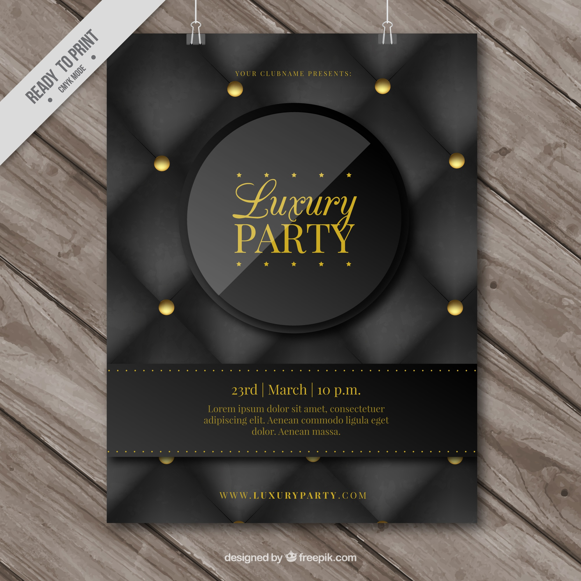 Elegant poster of luxurious party