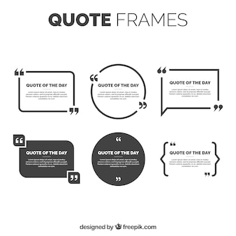 Elegant quote frames pack