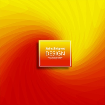 Elegant red and yellow wavy background design