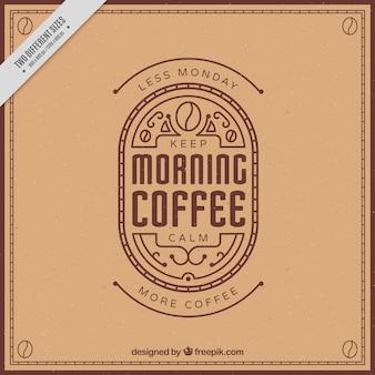 Elegant retro coffee phrase background