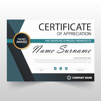 Elegant retro horizontal certificate of appreciation