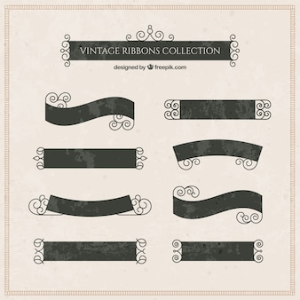 Elegant ribbon collection in vintage style