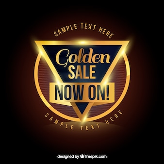 Elegant sale with golden style