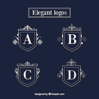 Elegant shield logo templates