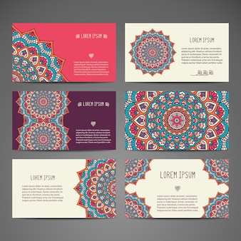 Elegant stationary mandala collection