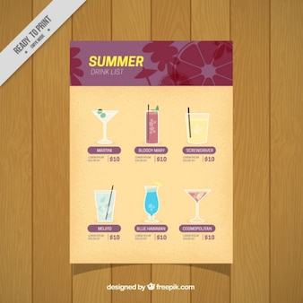 Elegant summer drinks