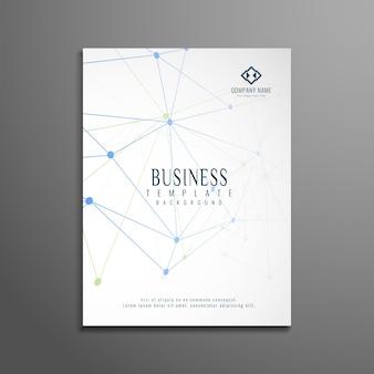 エレガントな技術ビジネスのパンフレットのデザイン