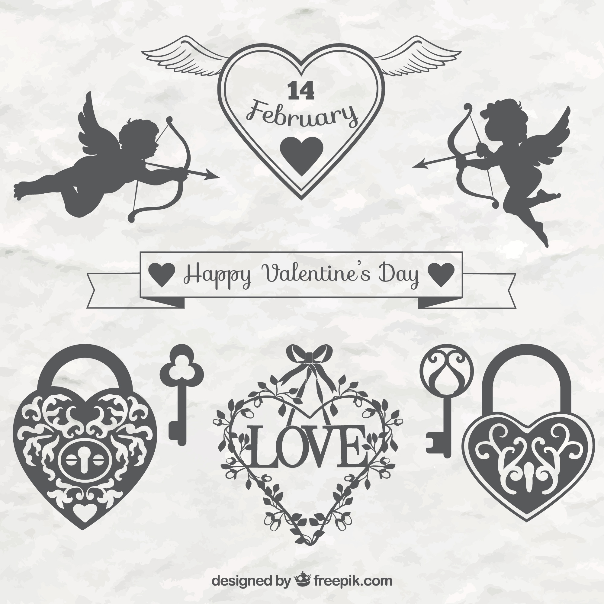 Elegant valentine day decorative ornaments