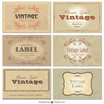 Elegant vintage labels