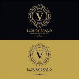 Elegant vintage letter v logo