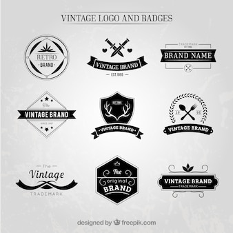 Elegant vintage logos and badges set