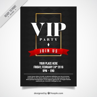 Elegant vip party poster