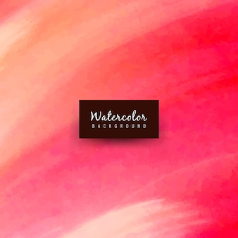 Elegant watercolor design in red tones