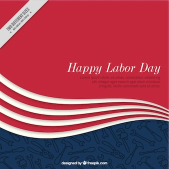 Elegant wave background of labor day