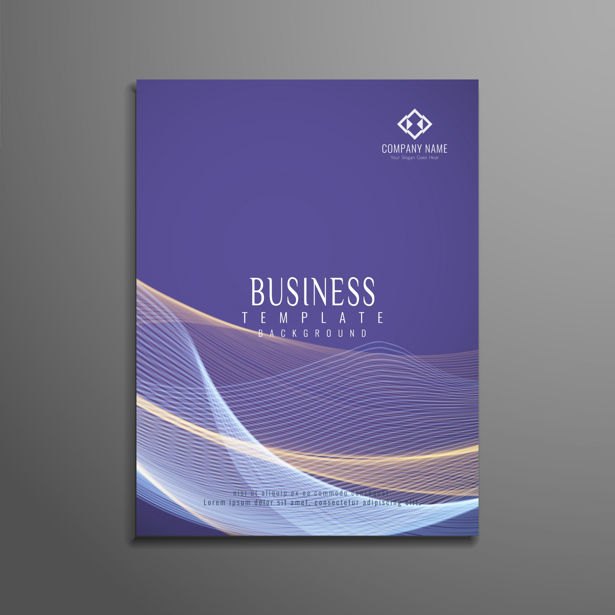 Elegant wavy business brochure template