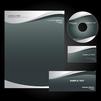 Elegant wavy stationery set