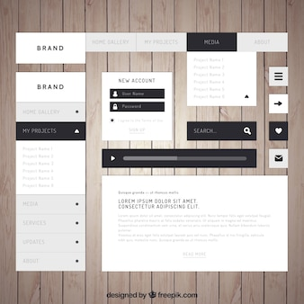 Elegant web element collection