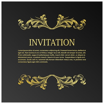 Elegant wedding invitation template with space for text