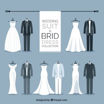 Elegant wedding suit and brid dress collection