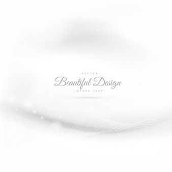 Elegant white background with wave