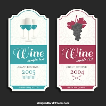 Elegant wine labels set