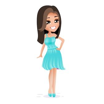 Elegant woman character
