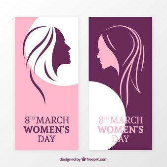 Elegant women's day banners