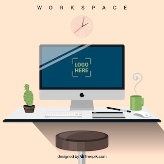 Elegant workspace background